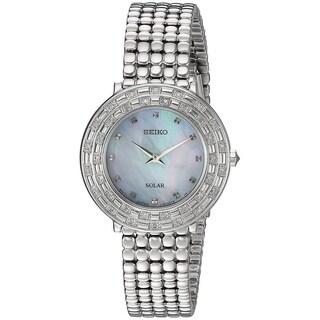 Seiko Women's SUP373 'TRESSIA' Quartz Silver-Toned Stainless Steel Solar Watch