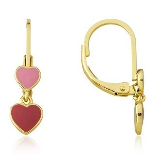 LMTS Pink Enamel Double Dangle Earring
