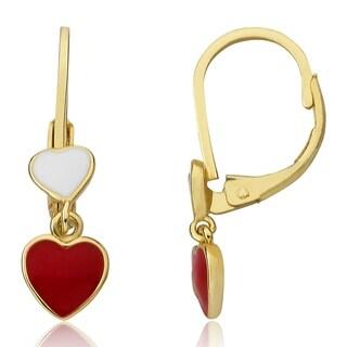 LMTS Red Enamel Double Dangle Earring
