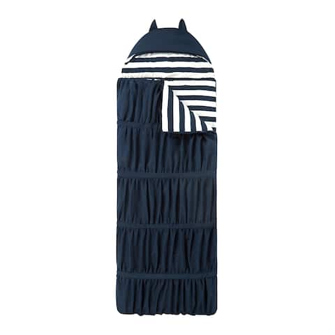 Chic Home Frankie Sleeping Bag with Cat Ear Hood Ruched Ruffled Design