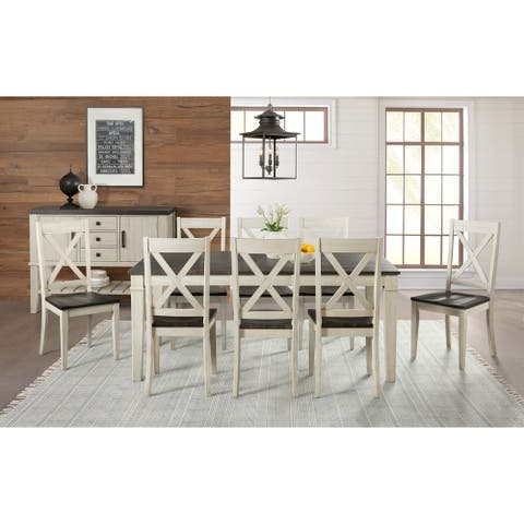 Simply Solid Cumberland Solid Wood 10-piece Dining Collection