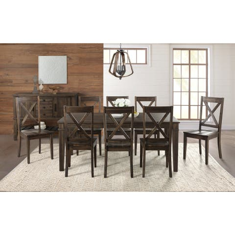 Simply Solid Winston Solid Wood 10-piece Dining Collection