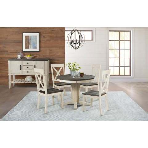 Simply Solid North Fork Solid Wood 5-piece Dining Collection