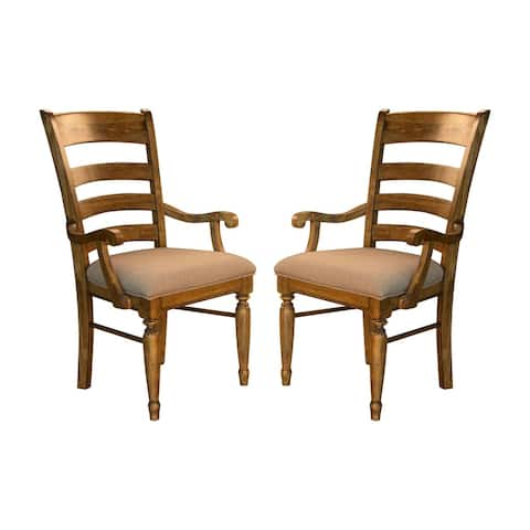 Simply Solid Deschutes Solid Wood Arm Chairs (Set of 2)