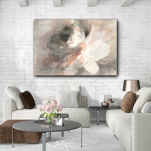 Abstract Peony Wrapped Canvas Print