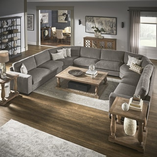 Ashton Grey Fabric Double Sided Down-Feather Modular Sectional by iNSPIRE Q Artisan