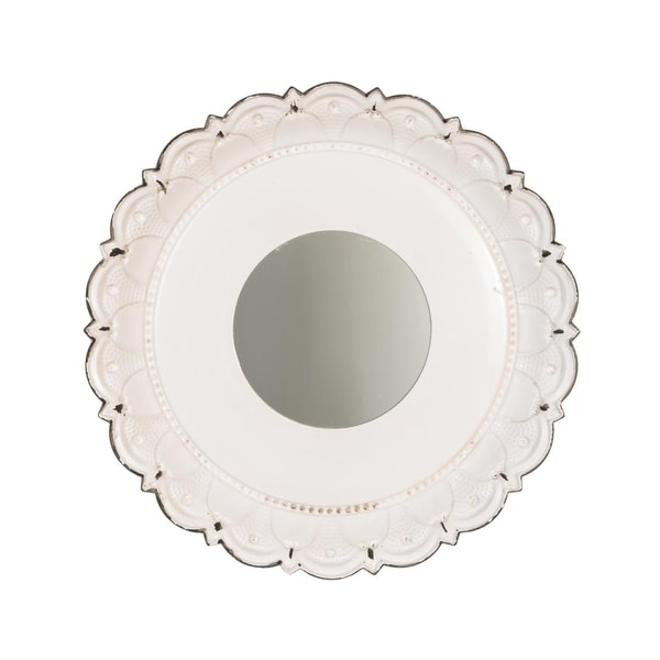 Foreside Home & Garden Cottage Garden White Mirror