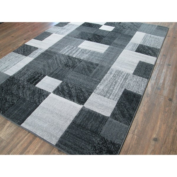 Checked Black Grey Rug: Shop ChicRugz Checkered Gray 2x3 Rug