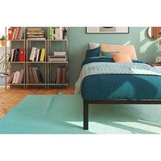Signature Sleep Black Modern Platform Bed with Euro Wood Slats