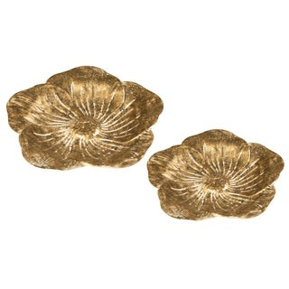 Sculpted Flower Trays, Set Of 2