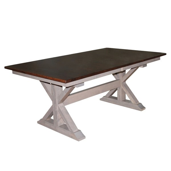 Double Pedestal Dining Room Table: Shop X-Base Double Pedestal 6 Foot Dining Table W/Two 18