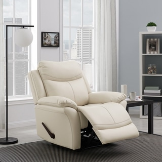 Copper Grove Peqin Almond Faux Leather Wall-hugger Recliner