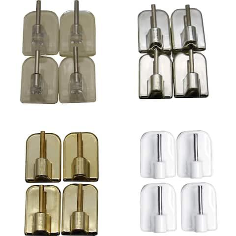 Self Adhesive Hooks Sash Rod Kitchen Curtains Set of 4