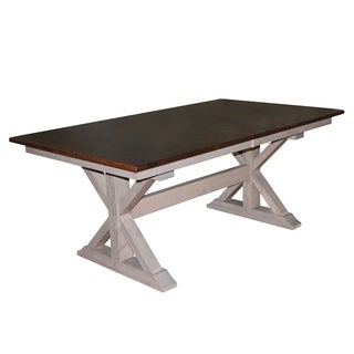 """X-Base Double Pedestal 6 Foot Dining Table w/18"""" Butterfly Leaf Extension"""
