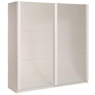"Wesley High Gloss White 79"" Wide 2 Door Wardrobe"