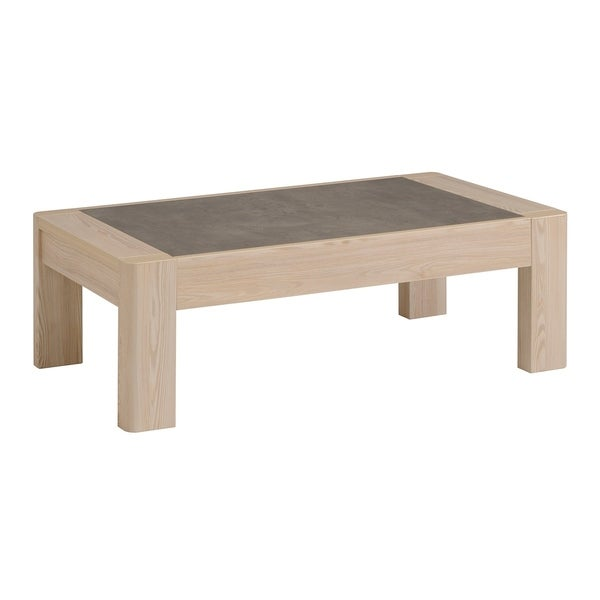 Chris Coffee Table, Structured larch wood