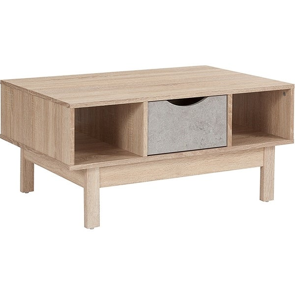Norwalk 1-Drawer Coffee Table with Open Shelves