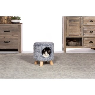 Prevue Pet Products Kitty Power Paws Plush Cozy Cave Gray 7381