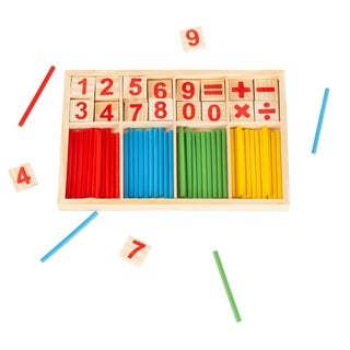 Montessori Math Manipulatives Number Tiles and Colorful Sticks by Hey! Play!