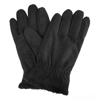 Isotoner Women's Faux Suede SmarTouch Gloves, X-Large, Black