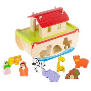 Noahs Ark Kids Playset Hand Painted Hardwood Childrens Bible Toys by Hey! Play!