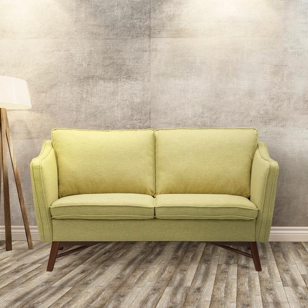 Shop Klein Light Green Walnut Finish Fabric Wood Mid
