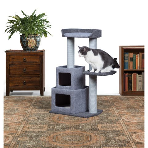 Prevue Pet Products Kitty Power Paws Plush Sky Condo 7319