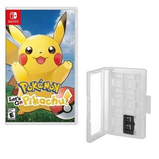 Pokemon Let's go Pikachu Game and Caddy