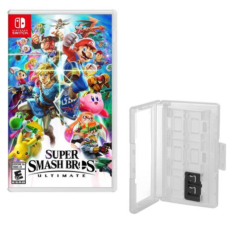 Super Smash Bros Game and Caddy - N/A - N/A