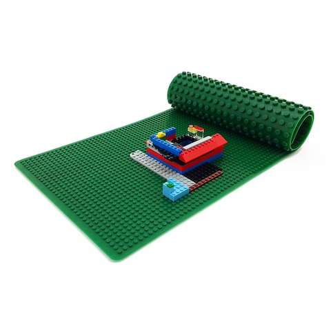 """PlayScapes 32"""" Portable Building Brick 2-Sided Play Mat - Compatible with Popular Building Block Brands"""