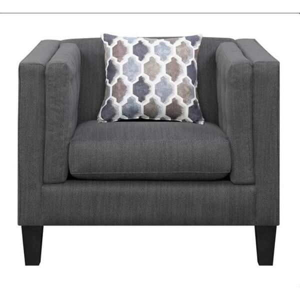 Harbor Dusty Bule Fabric Living Room Chair