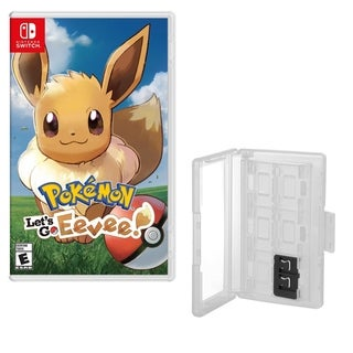 Pokemon Let's go Eevee Game and Game Caddy