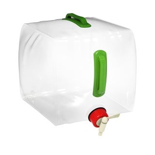 Collapsible Water Dispenser 5 Gallon PVC Jug with Easy ON/Off Spigot by Wakeman Outdoors