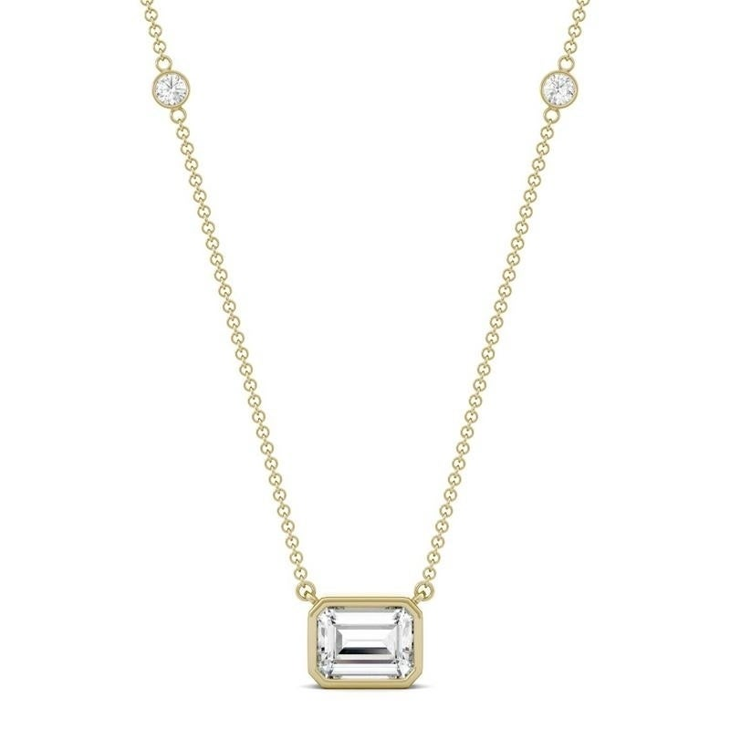 Shop Moissanite By Charles Colvard 14k Gold 1 87 Dew Bezel Set