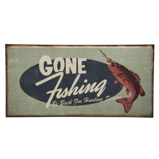Gone Fishing Wall Art - Multi-color