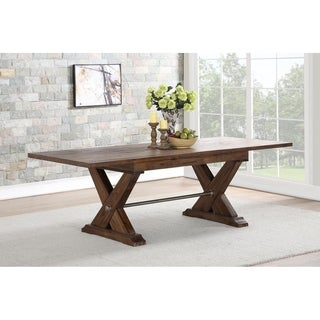 Fresno Dining Table With Butterfly Leaf - Brown