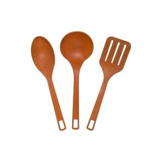Eco-Friendly 3-Piece Utensil Set - Orange