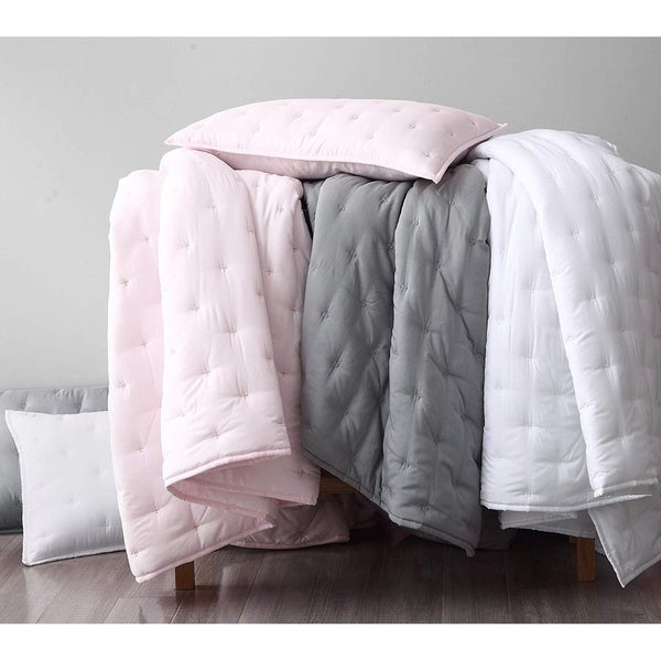 French Impression Milano 3 pc Quilted Bamboo Coverlet Set