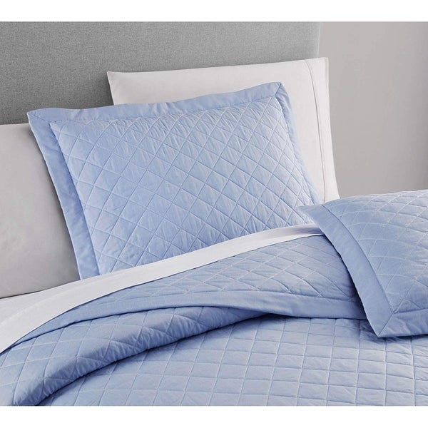 French Impression Owensboro 3 pc Quilted Bamboo Coverlet Set