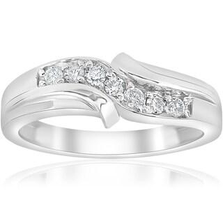 Bliss Platinum 1/4 ct TDW Mens Diamond Wedding Ring Band