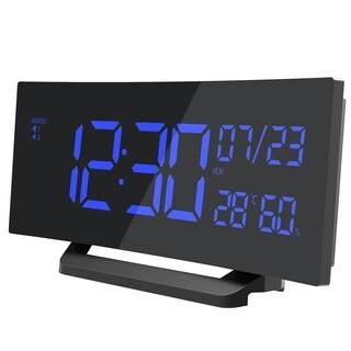 Mpow Digital Alarm Clock, Curved-Screen Dual Alarm and 3 Changeable Ringtones Clock