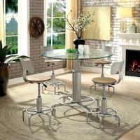 Furniture of America Franco 5-Piece Dining Table Set