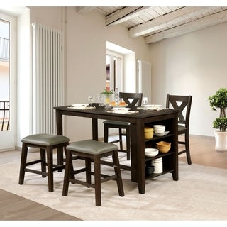 Furniture of America Chordall 5-Piece Counter Height Table Set