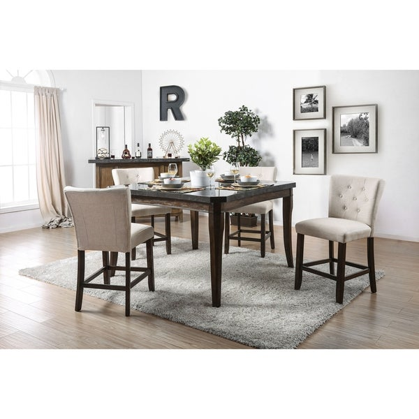 Carbon Loft Peony 5-piece Counter Height Dining Table Set