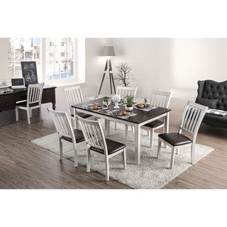 Furniture of America Madrid 7-Piece Dining Table Set