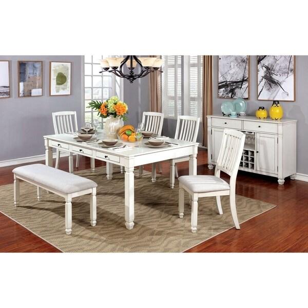 Shop Furniture Of America Devereaux White Wood 6-piece