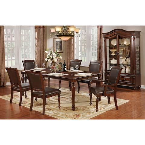 Furniture of America Porr Traditional Cherry 7-piece Dining Table Set