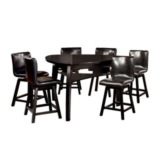Furniture of America Heather 7-Piece Counter Height Dining Table Set