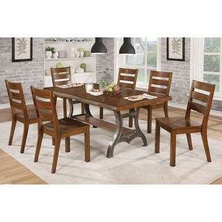 Furniture of America Coventry 7-Piece Dining Table Set