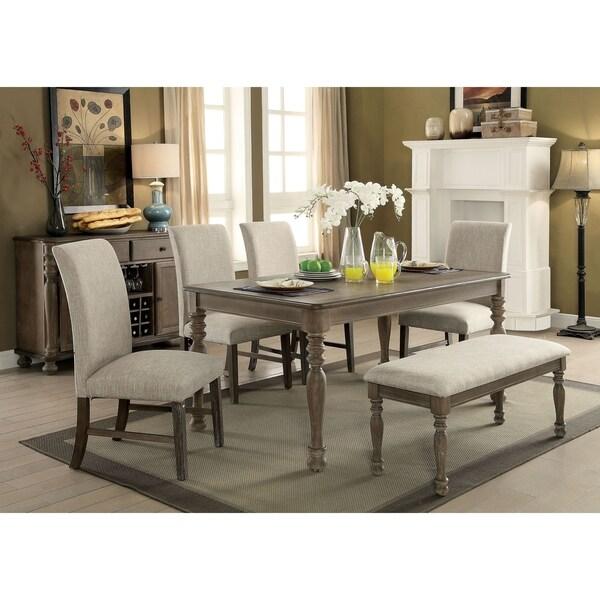 Shop Ingram Rustic Dark Oak 6-piece Dining Table Set By
